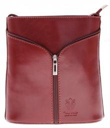 Genuine Leather Skórzana torebka listonoszka Made in Italy Brązowa (kolory) 208