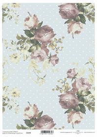 ITD Papier do scrapbookingu 250g A4 - 039 róże