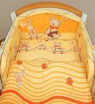 Mamo-Tato pościel 2-el Przyjaciele w pomarańczu do łóżeczka 70x140 cm
