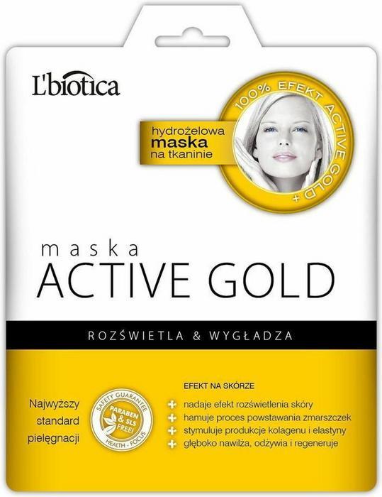 Lbiotica ACTIVE GOLD Maska Hydroelowa na tkaninie 1szt.