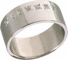 Tyfanit Wąska obrączka srebrna z cyrkoniami ST264