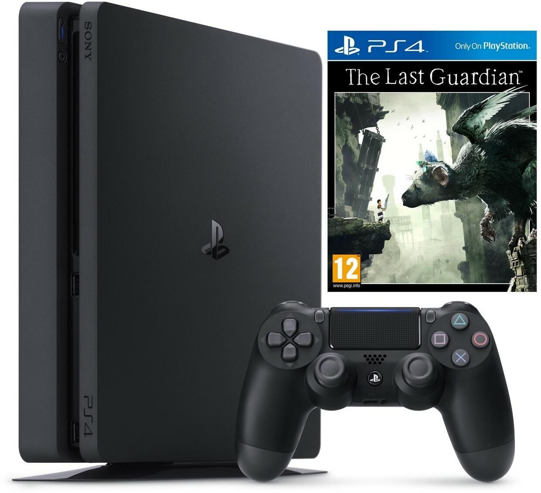 Sony PlayStation 4 Slim 1 TB Czarny + The Last Guardian + Akcesoria