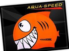 Aqua Speed Czepek do pływania dla dzieci Shark SHARK_01_BLUE
