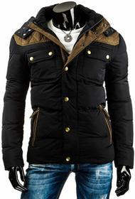 Czarna męska kurtka zimowa (tx0899) - czarny
