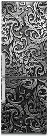 Oklejaj Naklejka na lodówkę - Srebrny ornament 0105 - Naklejka