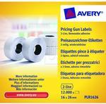 Avery Zweckform Etykiety cenowe w rolce usuwalne białe 26mm x 16mm Zweckform PLR1626