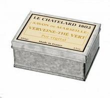 Le Chatelard 1802 Mydło w kostce marsylskie WERBENA-ZIELONA HERBATA 100g w puszce