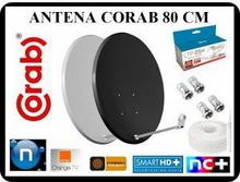 CORAB ANTENA 80 CM + TWIN + 20M KABLA + 4 x F