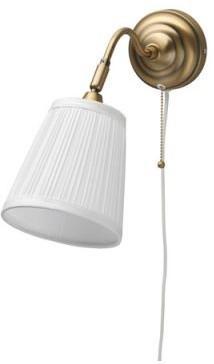 Ikea Biała Lampa ścienna Dekoracyjna Kinkiet Mosiądz Wz Asid