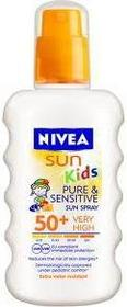Nivea Sun Kids Spray Pure & Sensitive SPF50+ dla dzieci 200ml