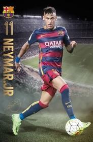 Barcelona Neymar action 15/16 Plakat