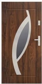 Drzwi zewnętrzne stalowe Stratus Miram 90 prawe orzech