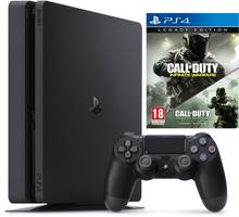 Sony PlayStation 4 Slim 1TB Czarny + CoD Infinite Warfare Legacy + Uncharted 4