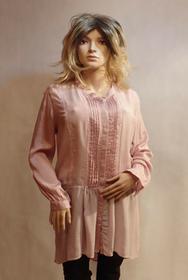 MaximoModa Długa bluzka pudrowy róż XL XXL BL0024