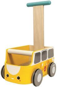 Plan Toys Drewniany Chodzik, Żółty Van,