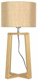 Candellux Lampa stołowa COMFORT 41-28587 drewniana LAMPKA abażurowa beżowy Brązowyo