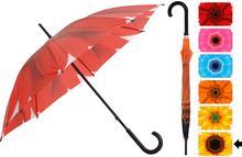 Parasol manualny FLOWER, Parasolka - 105 cm - żółty+brązowy