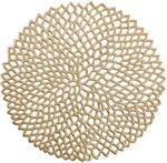 Zeller Podkładka ochronna dekoracyjna mata na stół kolor złoty 38 cm B071NM9V7D
