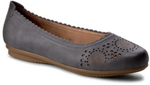 Josef Seibel Baleriny Pippa 31 72931 904 540 Jeans skóra naturalna/nubuk, skóra naturalna/licowa