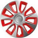 """VERSACO Pokrywa koła Stratos silver/red 14\"""" sada 4ks 20018)"""