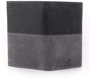 Beverly Hills Polo Club portfel męski skóra Oklahoma - czarny BH-263 nero/ant