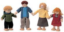 Plan Toys Lalki do domku dla lalek z drewna - rodzina drewnianych lalek, PLTO-74