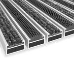 maxczysto Wycieraczka Aluminiowa Clean ryps - rubber 40 x 60 cm