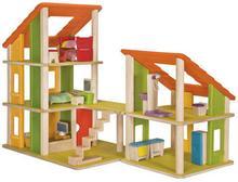 Drewniany DOMEK dla lalek z mebelkami - Plan Toys, domek wielowariantowy 8854740