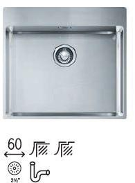 Franke Box BXX 210-54 stal jedwab 127.0369.295