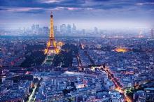 Paryż - Panorama Wieża Eiffel Plakat