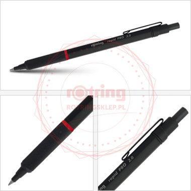 Rotring Rapid Pro - precyzyjny ołówek automatyczny 2,0mm - czarny - S0949370