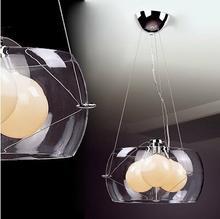 Italux DESIGNERSKA szklana LAMPA wisząca OPRAWA Zwis do salonu KOMA MD5807-3D IP