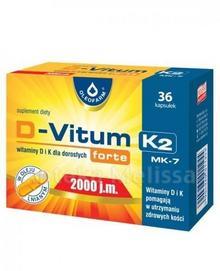Oleofarm Polska D-VITUM FORTE K2 Witaminy D i K dla dorosłych 2000j.m 36 kaps 3158441