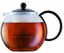 Bodum Assam zaparzacz do herbaty, z sitkiem i pokrywką z tworzywa sztucznego, czarny, 1 l 1844-01US