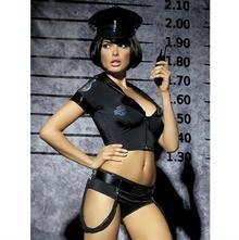Obsessive Police set kostium 5-częściowy S/M prp7006901