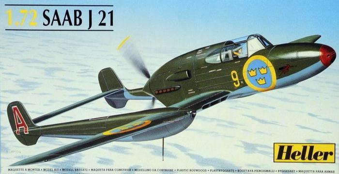 Heller Saab J-21A 80261
