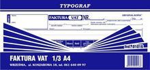 Typograf Faktura VAT 1/3 A4