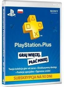 Sony KARTA DOŁADOWANIA PLAYSTATION PLUS PSN 90 DNI