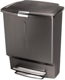 Simple Human Kosz na śmieci Steel Bar Recycler 60L Szary