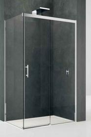 Novellini KALI FH Ścianka boczna 100x195 , profile srebrne, szkło transparentne