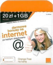 Orange Free Internet na kartę 1 GB 20 zł