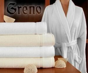 Greno Szlafrok Wellness biały - z włóknem bambusowym 3CFD-59843