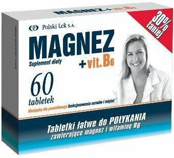 Polski Lek Magnez +Vit.B6 60 szt.