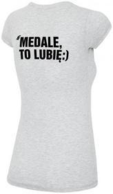 4F [T4L16-TSD305E] T-shirt kibica damska TSD305E - szary melanż 1