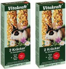 Vitakraft Kolby dla królików, z miodem - 2 x 2 szt.