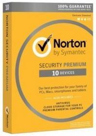 Symantec Norton Security Premium 2016 (10 stan. / 1 rok) - Nowa licencja