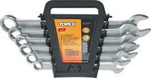 Topex Klucze płasko oczkowy 35D755 komplet 6szt. (8-17 mm)