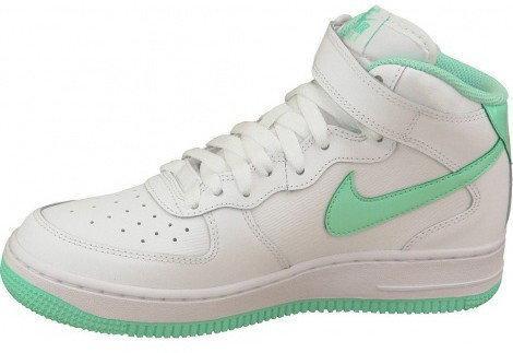 buty damskie nike air force 1 mid gs białe
