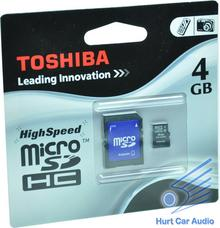 Toshiba Micro SDHC Class 4 (+ adapter) 4GB
