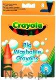 Crayola CRAYOLA Kredki świecowe zmywalne 8 szt.